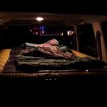 -3℃の寒さにも負けず橋下で車中泊キャンプ