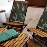 アウトドアワゴン と 迷彩 ウッドチェア&テーブル購入