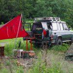迷彩テント&赤のヘキサタープ初張りキャンプ