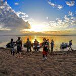 天神浜オートキャンプ場で湖畔ジェットキャンプ