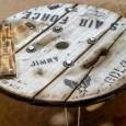 ケーブルドラムで折畳み式ローウッドテーブルを自作